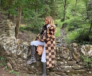 coat, dog, and walk image