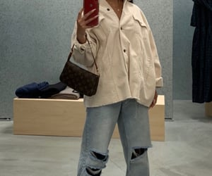bag, hair, and nike image