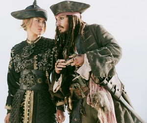 pirates of the caribbean, johnny depp, and jack sparrow image