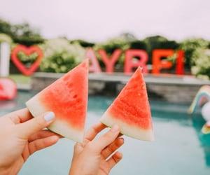 aesthetics, watermelon, and sweer image