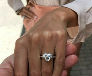 couple, engaged, and jewelry image