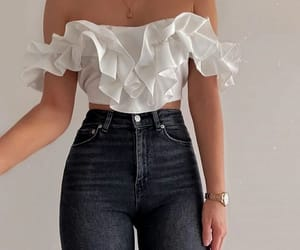 high waisted jeans image