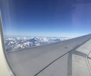 blue sky, Flying, and skies image