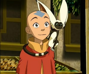 momo, aang, and avatar image