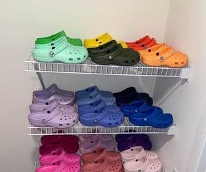 colors, crocs, and fashion image