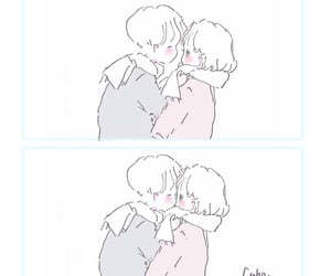 couple, doodle, and drawing image