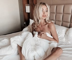 bed, dress, and model image
