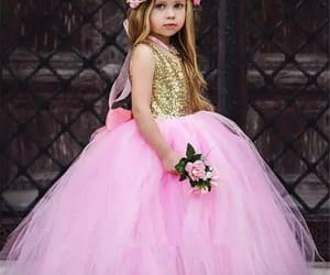 kids prom dress, pink flower girl dress, and kids prom dresses image