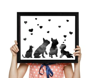 etsy, baby announcement, and french bulldogs image