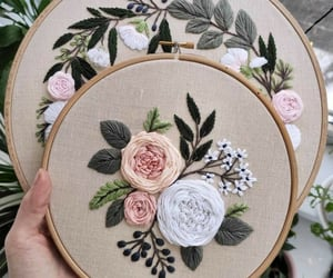 embroidery, handmade, and cute image