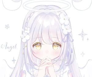 angel, anime, and baby image