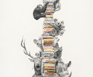 book, animal, and giraffe image