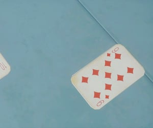 blue, nine, and playing cards image