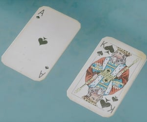 blue, cards, and king image