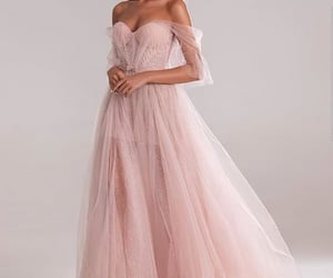 dress, gowns, and pink image
