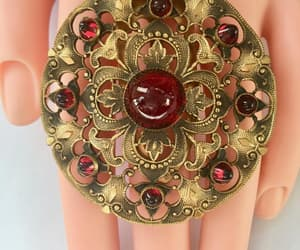 etsy, vintagevoguetreasure, and red czech glass image