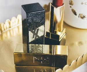 beauty, Yves Saint Laurent, and lipstick image