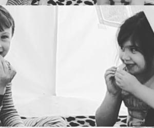 boy and girl, teepee, and kids image