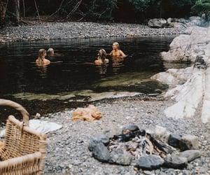 bath, bonfire, and river image