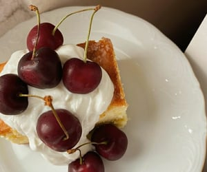cherry, cheesecake, and fruit image