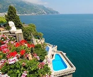 blue, flowers, and italy image