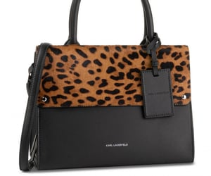 bag, leopard, and black image