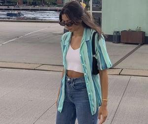 blue blouse, fashionista fashionable, and fashion style mode image