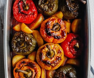 bake, pepper, and greek food image