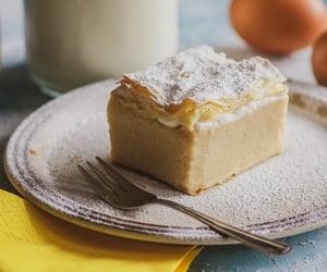 custard, dessert, and pastry image