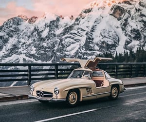 cars, mercedes, and old school image