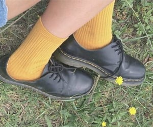 doc martens, yellow, and filter image