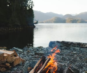 background, bonfire, and campfire image