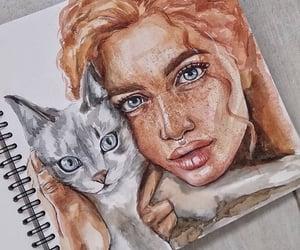 animal, art, and cat image