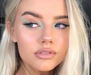 beautiful, blue eyes, and glam image
