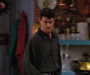friends, friends season 2, and chandler bing mustache image