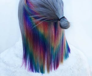 beauty, hairstyle, and colors image