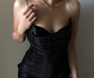 black dress, dress, and little black dress image