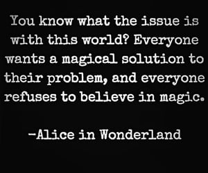 alice, black and white, and words image