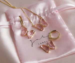 butterfly, earrings, and pink image