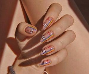 nails, art, and rainbow image
