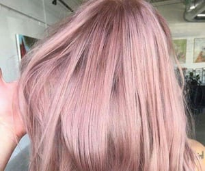 color hair, fantasy color hair, and rose gold hair image