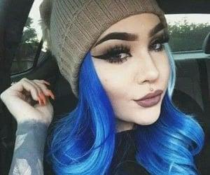 tattoo girl, fantasy hair, and fantasy color hair image