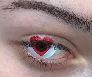art, eyes, and heart image