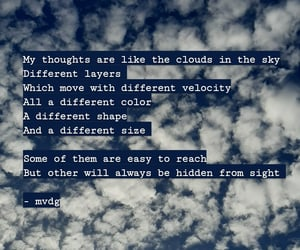 clouds, poems, and private image