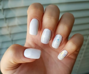 art, manicure, and white image