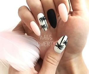 nails, pink, and summer image