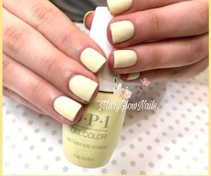 nails, yellow, and opi image