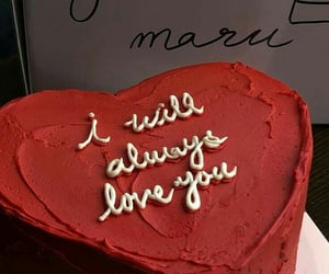 cake, red, and love image