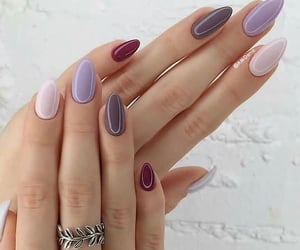 almond nails&ring image