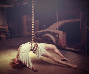 girl, photography, and chain image
